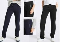 Womens Ex M&S JOGGERS Cotton Yoga Gym Casual POCKETS Pants Jogging Bottoms Size