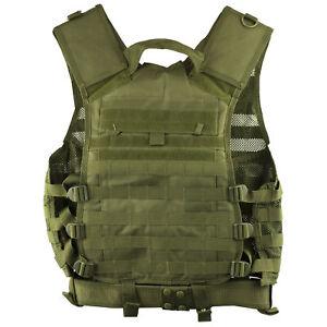 NcStar MOLLE/Pals Vest Medium-2XL Green w/Pistol Belt & Access Pouches CPV2915G