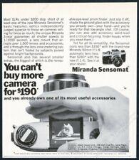 1969 Miranda Sensomat camera photo vintage print ad