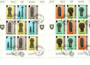 A LOVELY PAIR OF UM G/FU 1978 ISLE OF MAN MINI SHEETS OF 9 STAMPS EACH. EUROPA