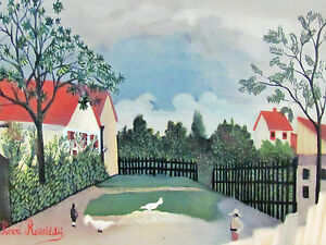HENRI ROUSSEAU - THE COTTAGE - LITHOGRAPH - 1962 - SUPER SPECIAL ONLY  $  29.99