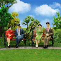 48pcs G scale Figures 1:30 All Seated Painted People 4 Poses Model Railway