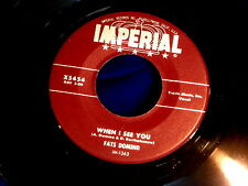 FATS DOMINO~WHEN I SEE YOU~NEAR MINT~WHAT WILL I TELL MY HEART~IMPERIAL ~ R&B 45