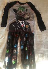 Circo Boys Punk Bear Long Sleeve Shirt/Fleece Pants Pajama Set (Size Small)