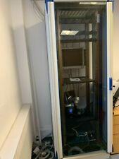 More details for freestanding 42u cream server cabinet rack enclosure