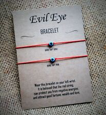 Evil Eye Lucky Red String Wish Bracelets Wedding Anniversary Couples Twin Gift