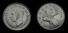 Canada 1940 Silver Twenty-Five 25 Cent Piece King George VI MS-62