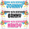 2 personalised birthday banner balloon Stars kids adults party poster decoration