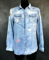 CASUAL DENIM SHIRT BY MOHITO COLLECTION. SIZE S-M