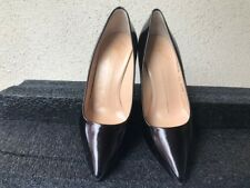dbf1195160ae GIUSEPPE ZANOTTI POINTY-TOE PATENT LEATHER PUMPS IN TOBACCO SIZE 6.5 MEDIUM
