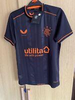 BNWT Genuine Castore Glasgow Rangers Third Shirt in Size JM = Age 9-10 WATP🇬🇧
