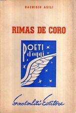N85 Rimas De coro Asili Poeti d'oggi Ed. Gastoldi 1953