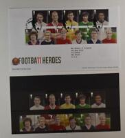 2013 ROYAL MAIL PRESENTATION FOLDER BRITISH FOOTBALL HEROES & FDC LOT 414