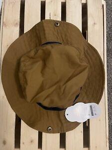 Wonder Nation Toddler Boy Brown Canvas Sun Hat with Chin Straps