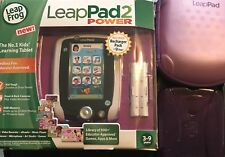 Purple Leap Frog Leap Pad 2 Power, Charger,  Battery Pack, Carry Case & Gel Skin