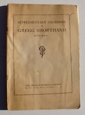 Old Exercise Booklet for Gregg Shorthand - copyright 1918