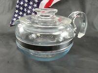VINTAGE PYREX 6 CUP GLASS TEAPOT  #8446  Pyrexware Original
