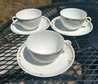Vintage Victoria Austria Tea Cup and Saucers. Single Rose Design 3
