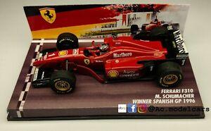 FERRARI F310 Schumacher WINNER SPANISH GP 1996 1/43 no looksmart minichamps