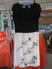 IRISH LINEN BLACK & WHITE SUMMER DRESS BY NIKKI VALENTINE SIZE 12