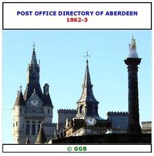 ABERDEEN POST OFFICE DIRECTORY 1862-1863 CD ROM