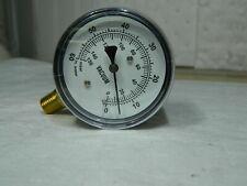 New Listinggast 14 Npt Vacuum Gauge 0 60 Psi Pressure 0 150 Millibars Aj497