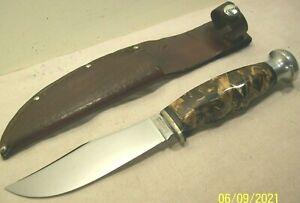1930's~CASE~SPORTSMAN'S HUNTER~BROWN PEARL HANDLE HUNTING KNIFE w/ORIG. SHEATH~