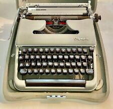 1950's Olympia Deluxe Typewriter Manufactured in West Germany with Original Case