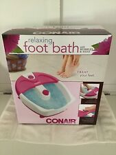 Conair Massaging Foot Bath With Bubbles and Heat NIB