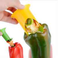 2Pcs Green Pepper Fruit Vegetable Corer Slicer Peeler Cutter Parer Kitchen Tool