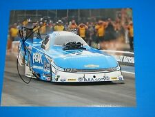 JOHN FORCE NHRA DRIIVER SIGNED 8X10 PHOTO coa