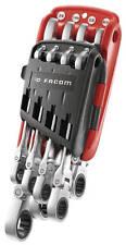 """FACOM 467F.JPU8 8 Pce. FLEXI RATCHETING COMBINATION SPANNER SET 5/16-3/4"""" AF IMP"""