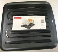 NEW RUBBERMAID SMALL BLACK  SLOPED DISH DRAINER TRAY MAT DRAIN BOARD