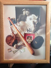 Lou Gehrig New York Yankees collage photo professionally framed 12 1/2 by 15 1/2
