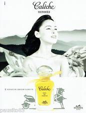 PUBLICITE ADVERTISING 026  1996  Hermès Soie de Parfum Calèche
