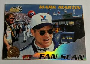Mark Martin - 1996 Pinnacle Action Packed 96 Credentials Fan Scan Card #3 of 9