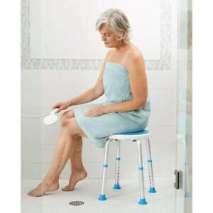 Carex Swivel Shower Stool New W Rotating Seat Adjustable Height Shower Chair
