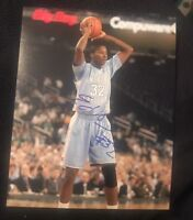 ED DAVIS SIGNED 8X10 PHOTO UNC NORTH CAROLINA NBA NCAA W/COA+PROOF RARE WOW
