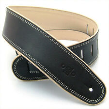 """DSL 2.5"""" Leather Guitar Strap With Rolled Edging (GEP-25 Various Colours)"""