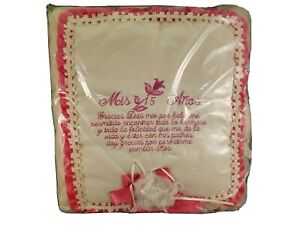Padded Mis Quince Anos Photo Album Pink/White Brand New