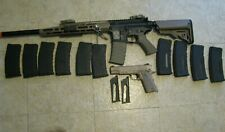 APS Airsoft ASR110 RTS Special Purpose Rifle and COLT 1911 Rail Gun Extras USED