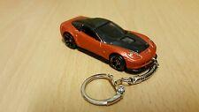 Diecast Chevrolet Corvette Orange Toy Car  Keyring / Keychain NEW