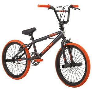 20 Inch Outerlimit BMX Bike Single Speed Riding Durable Steel Frame Grey Orange
