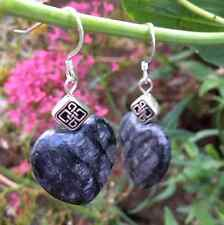 Fossil Limestone Irish Celtic Heart Earrings Made in Ireland, Kilkenny marble