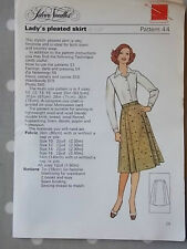 Uncut 70s Pleated Skirt Silver Needles 44 Vtg Sewing Pattern B 34 36 38 40