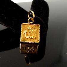 muslim pendant quran locket p1046 ns 22k 22ct Solid Gold Allah islam