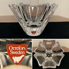 Signed ORREFORS Swedish Art-Glass ORION BOWL Display Candy-Dish w/ Label
