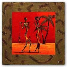 Sun Tribe I Kamba African American Art Print 10x20