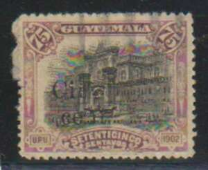D0400 : Guatemala #171 D'Occasion, Surimpression Erreur, Look