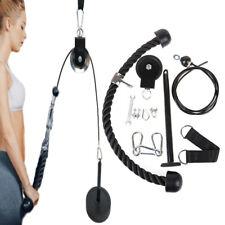 LAT PULL DOWN HOME WORKOUT CABLE PULLEY MULTI GYM EQUIPMENT HANGING STRAP MO ha